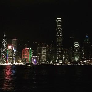 HK by night fra Stjerneferja.