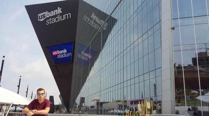 Den nyåpnede stadion til Minnesota Vikings er nesten klar for sesongen (Foto: Gunnar Lier)