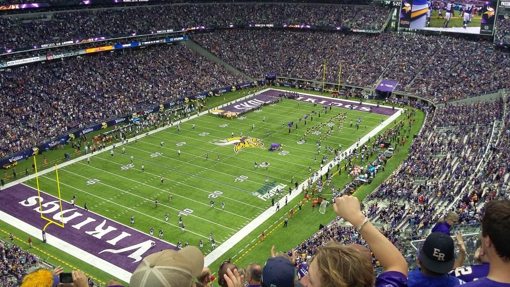 Den fantastiske nye stadion til NFL-laget i Minneapolis, Minnesota Vikings.