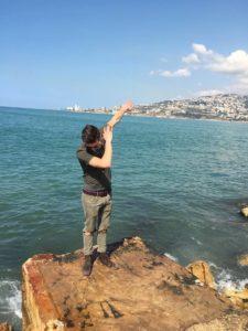 En liten dab etter å ha nådd kysten #Dabtheme