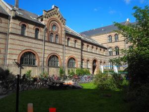 Bakgården i Kommunehospitalet